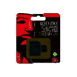 MEMORIA : 16GB KINGSTON CLASE 10 MSD + ADAPTADOR