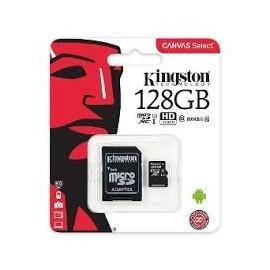 MEMORIA : 128GB KINGSTON CLASE 10 (MSD + ADAPTADOR)