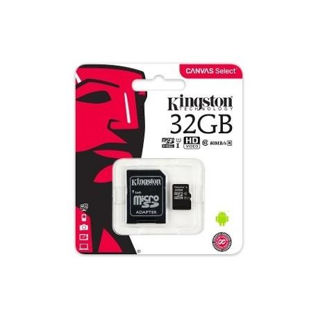 MEMORIA : 32GB KINGSTON CLASE 10 (MSD + ADAPTADOR)