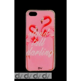 DV FUNDA DIBUJO IPHONE 5G FLAMINGO