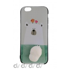 iPHONE 6 FUNDA MUÑECO Achuchable OSO POLAR