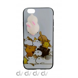 iPHONE 6 FUNDA MUÑECO Achuchable CONEJO