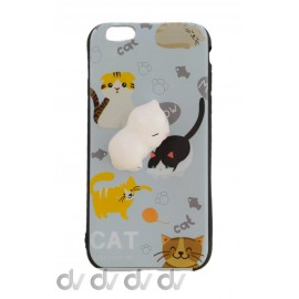 iPHONE 6 FUNDA MUÑECO Achuchable GATO
