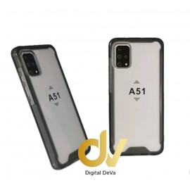 DV FUNDA A51 SAMSUNG TRANSPARENTE COLOR BUMPER AIR NEGRO