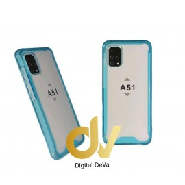 DV FUNDA A51 SAMSUNG TRANSPARENTE COLOR BUMPER AIR CELESTE