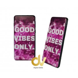 DV S10 SAMSUNG FUNDA DIBUJO RELIEVE 5D GOOD VIBES ONLY