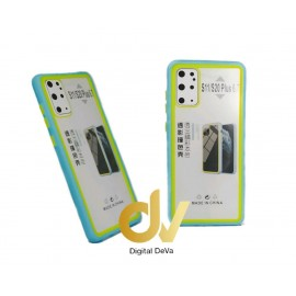 S20 Plus SAMSUNG FUNDA Dual Color PVC Bumper AZUL TURQUES