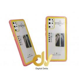 S20 Plus Samsung Funda Dual Color PVC Bumper ROSA