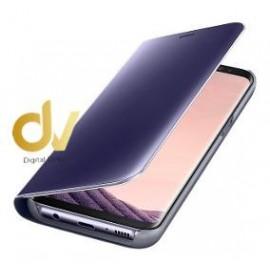 A90 5G Samsung Funda Flip Case Espejo LILA