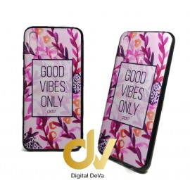 M20 SAMSUNG FUNDA Dibujo 5D GOOD VIBES ONLY