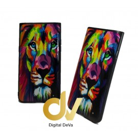 DV A90 5G SAMSUNG FUNDA  DIBUJO RELIEVE 5D LEON COLORES