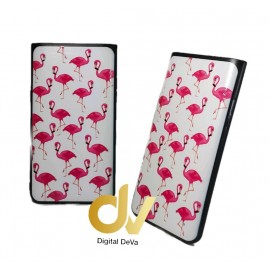 DV A90 5G SAMSUNG FUNDA  DIBUJO RELIEVE 5D FLAMINGOS