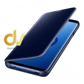 J6 2018 Samsung Funda Flip Case Espejo AZUL