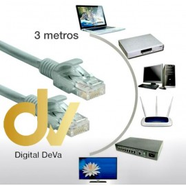 DV CABLE 3 MTS ETHERNET