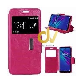 S7 Edge Plus Samsung Funda Libro con cierre 1 Ventana ROSA