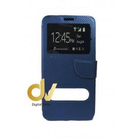 S6 Edge Plus Samsung Funda Libro  2 Ventanas AZUL