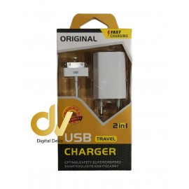 Cargador 4G /4S iPhone Pack 2 En 1