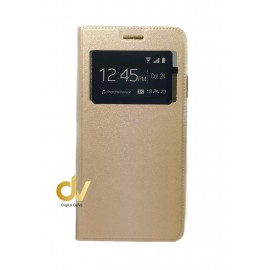 P30 Lite Huawei Funda Libro 1 Ventana con Cierre Imantado DORADO
