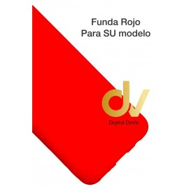 DV HONOR VIEW 10 HUAWEI FUNDA SILICONA ROJO