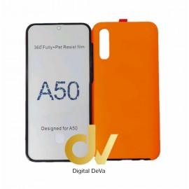 A50 SAMSUNG Funda Pc 360 Doble Cara Naranja