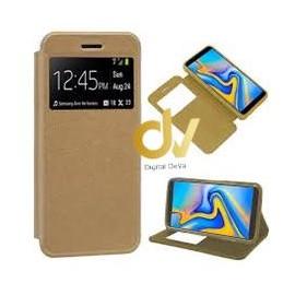 A81 / Note 10 Lite Samsung Funda Libro con cierre 1 Ventana DORADO