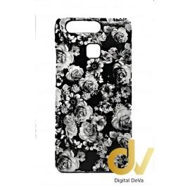 P9 Huawei Funda Flores Negro