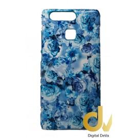 P9 Huawei Funda Flores Azul Turques