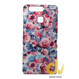 P9 Huawei Funda Flores Rosa