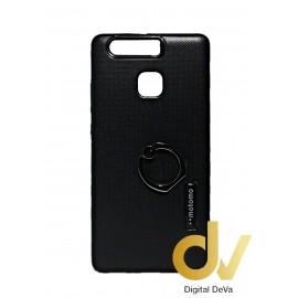 P9 Huawei Funda Con Anillo Soporte Negro