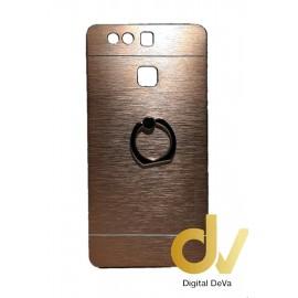 P9 Huawei Funda Motomo Metalica Con Anillo DoradoDV P9 HUAWEI FUNDA MOTOMO METALICA DORADO