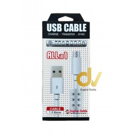 Cable Android V8 2.4A 1.5mts