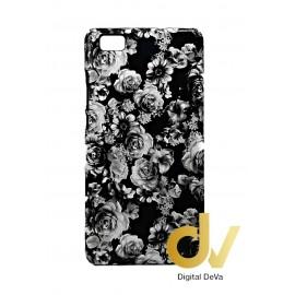 P8 Lite Huawei Fundas Flores Negro