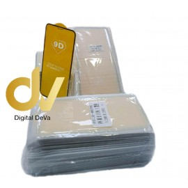 DV REDMI 8 NEGRO XIAOMI  BULK PACK 25 PC CRISTAL COMPLETO FULL GLUE