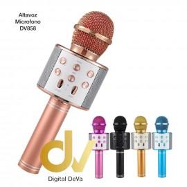 Altavoz Bluetooth Y Karaoke WS-858  Metalica Plata