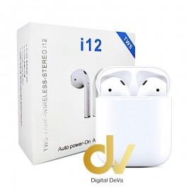Auricular Airpods Bluetooth i12 BLANCO