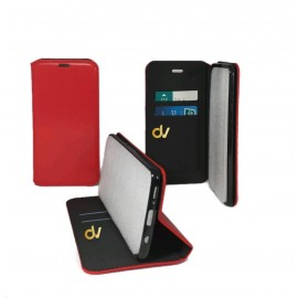 iPhone X / XS Funda Libro Premium 2 Card ROJO