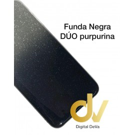 A10S Samsung Funda Duo Purpurina NEGRO