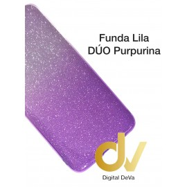 A10S Samsung Funda Duo Purpurina LILA