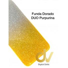 A20S Samsung Funda Duo Purpurina DORADO