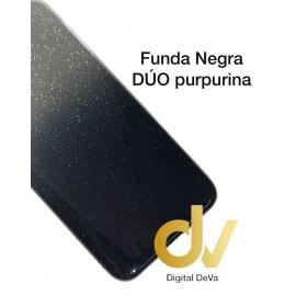 A20S Samsung Funda Duo Purpurina NEGRO