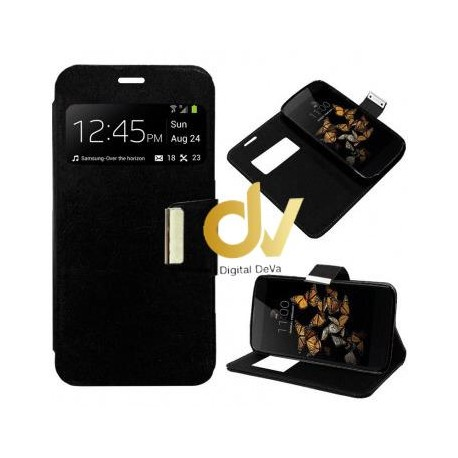 iPhone 11 Pro Funda Libro Con Cierre 1 Ventana NEGRO