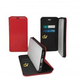 DV 11 MAX IPHONE FUNDA LIBRO PREMIUM 2 CARD ROJO