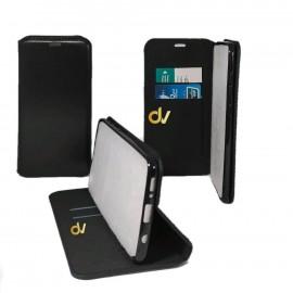 iPhone XR Funda Libro Premium 2 Card NEGRO