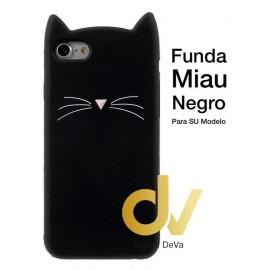 iPHONE 11 FUNDA Miau NEGRO