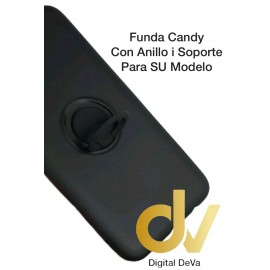 DV IPHONE 11 NEGRO FUNDA CANDY CON ANILLO Y SOPORTE 2 EN 1