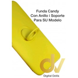 DV IPHONE 11 AMARILLO FUNDA CANDY CON ANILLO Y SOPORTE 2 EN 1