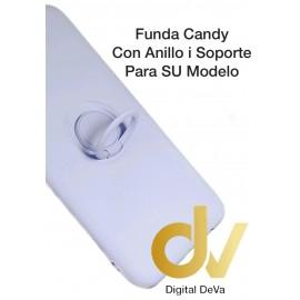 DV S20 SAMSUNG LILA FUNDA CANDY CON ANILLO Y SOPORTE 2 EN 1