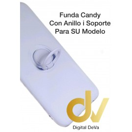 DV S20 ULTRA SAMSUNG LILA  FUNDA CANDY CON ANILLO Y SOPORTE 2 EN 1