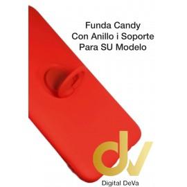 REDMI Note 9SE Rojo FUNDA Candy Con Anillo y Soporte