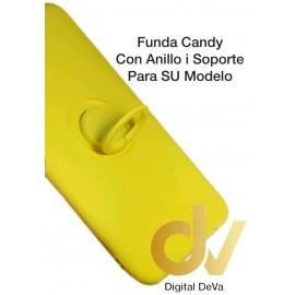 REDMI Note 9SE Amarillo FUNDA Candy Con Anillo y Soporte
